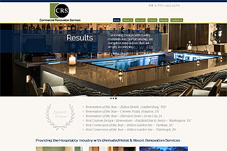Website for Hotel Renovation Services Company in Holly Springs, GA